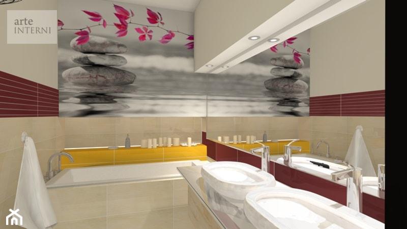 Wygodna łazienka 10m/2 dla 3 -osobowej rodziny - zdjęcie od Arte-INTERNI pracownia projektowa - Homebook