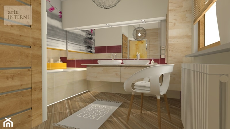 Wygodna łazienka 10m/2 dla 3-osobowej rodziny - zdjęcie od Arte-INTERNI pracownia projektowa - Homebook