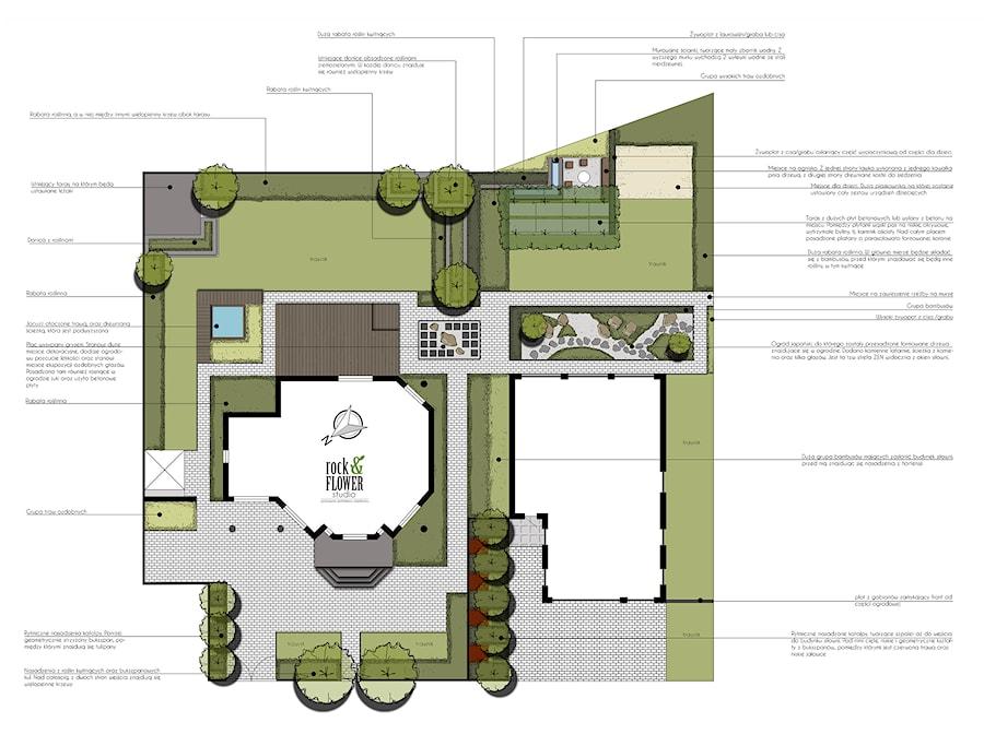 Ogród łączony - Ogród, styl nowoczesny - zdjęcie od Rock&Flower studio
