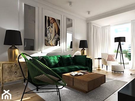 Aranżacje wnętrz - Salon: Apartament Wilanów - ZAZA studio. Przeglądaj, dodawaj i zapisuj najlepsze zdjęcia, pomysły i inspiracje designerskie. W bazie mamy już prawie milion fotografii!