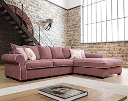 Meble wypoczynkowe - Mały biały brązowy salon, styl industrialny - zdjęcie od Primavera Furniture