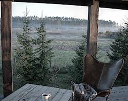 Forest in home - Średni taras z tyłu domu, styl eklektyczny - zdjęcie od bogusias_dream