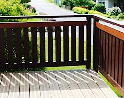 Balustrada aluminiowa - ciemny orzech - zdjęcie od www.balustradyzaluminium.pl