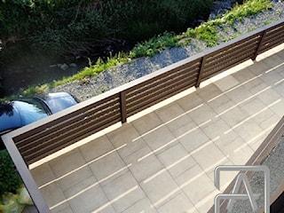 Balustrada aluminiowa - ciemny brąz