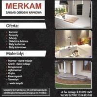 Merkam ,blaty kuchenne, konglomerat, granit, marmur, kwarc, kamień naturalny, parapety,łazienki, schody