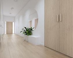 Projekt+wn%C4%99trz+domu+w+Tarnowie+Podg%C3%B3rnym+%2F2%2F+-+korytarz+z+zieleni%C4%85+%2F2%2F+-+zdj%C4%99cie+od+YONO+Architecture