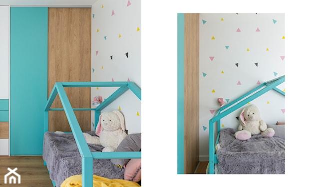 łóżko-domek miętowe