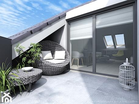 Apartament II Zalesie - Średni taras na dachu - zdjęcie od Studio Soko