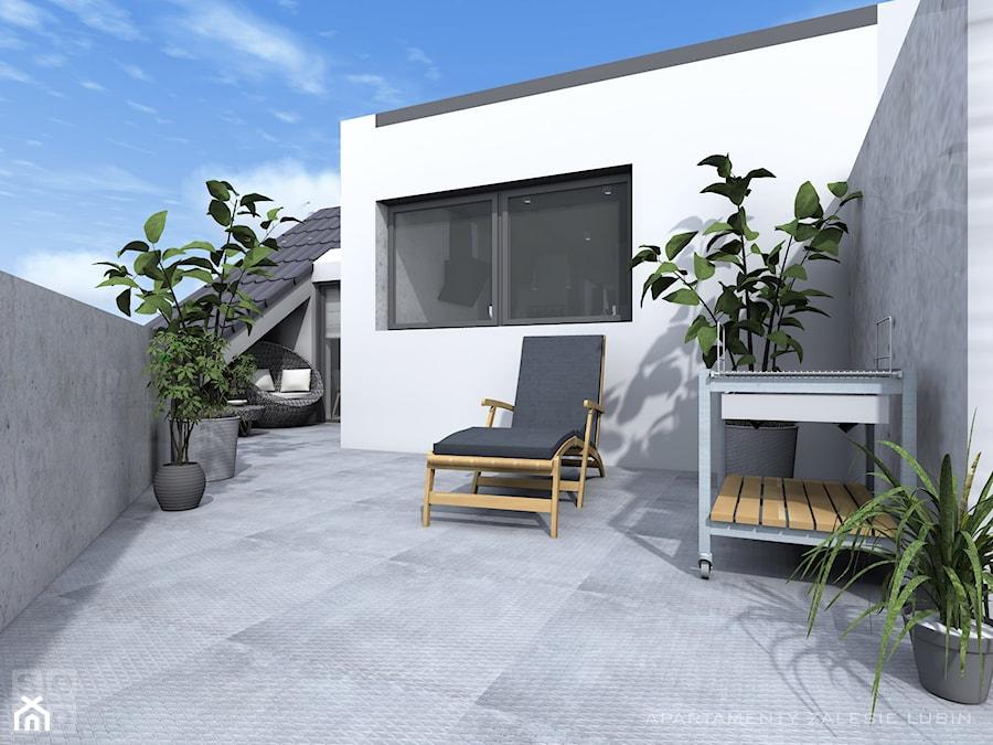 Aranżacje wnętrz - Taras: Apartament II Zalesie - Duży taras na dachu - Studio Soko. Przeglądaj, dodawaj i zapisuj najlepsze zdjęcia, pomysły i inspiracje designerskie. W bazie mamy już prawie milion fotografii!