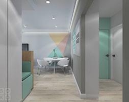 Mieszkanie na Kwiatowej II 1 - Średni szary turkusowy hol / przedpokój, styl nowoczesny - zdjęcie od Studio Soko
