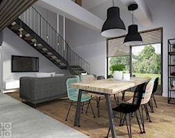 Dom pod Krakowem - Średnia otwarta biała jadalnia w salonie, styl industrialny - zdjęcie od Studio Soko