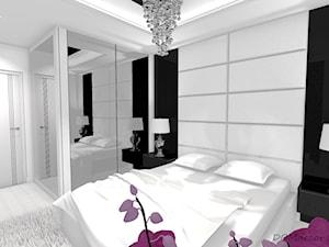 Sypialnia - styl glamour