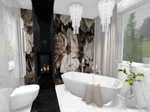 Łazienka/Pokój kąpielowy w stylu glamour