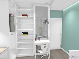 Pokój nastolatki - Mały biały zielony pokój dziecka dla chłopca dla dziewczynki dla ucznia dla malucha dla nastolatka, styl nowoczesny - zdjęcie od DOMdecor Studio Klaudiusz Klepacki
