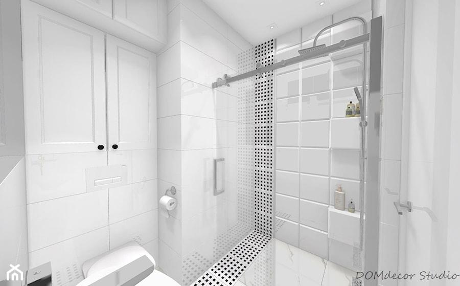 Mała łazienka Z Prysznicem Mała Biała łazienka Na Poddaszu