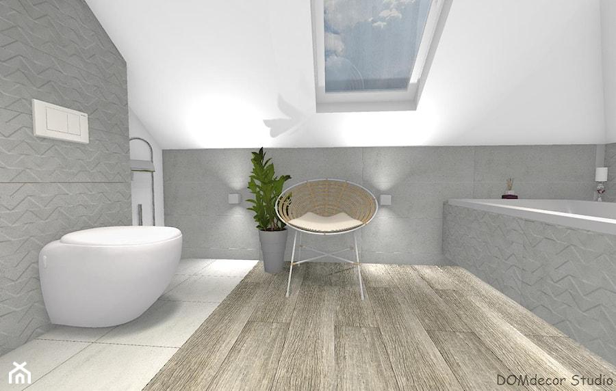 Łazienka przy sypialni ze skosami - Łazienka, styl nowoczesny - zdjęcie od DOMdecor Studio Klaudiusz Klepacki