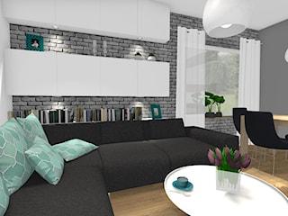 Salon i kuchnia w stylu nowoczesnym