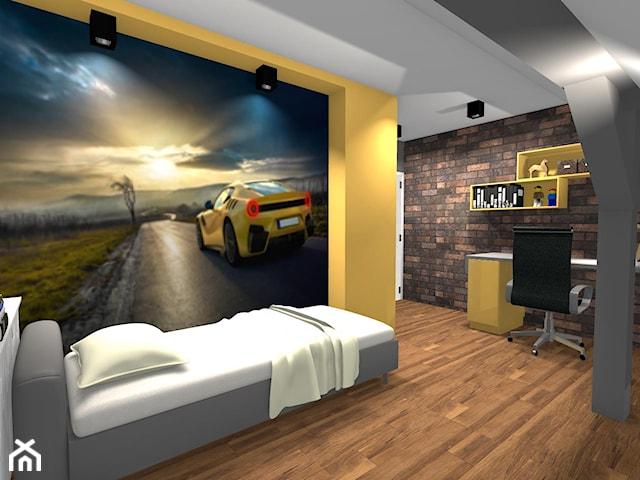 Pokój nastolatka z żółtymi dodatkami