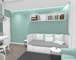 Pokój nastolatki - Średni biały zielony czarny pokój dziecka dla chłopca dla dziewczynki dla ucznia dla nastolatka, styl nowoczesny - zdjęcie od DOMdecor Studio Klaudiusz Klepacki