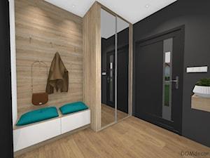 Wiatrołap - Mały czarny hol / przedpokój, styl nowoczesny - zdjęcie od DOMdecor Studio Klaudiusz Klepacki