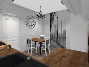 Biała kuchnia w stylu klasycznym - Średnia zamknięta biała kuchnia w kształcie litery l w aneksie, styl klasyczny - zdjęcie od DOMdecor Studio Klaudiusz Klepacki