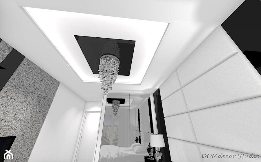 Sypialnia - styl glamour - Mała szara sypialnia małżeńska, styl glamour - zdjęcie od DOMdecor Studio Klaudiusz Klepacki