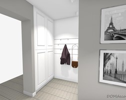 Wiatrołap w stylu angielskim - Średni biały szary hol / przedpokój, styl klasyczny - zdjęcie od DOMdecor Studio Klaudiusz Klepacki