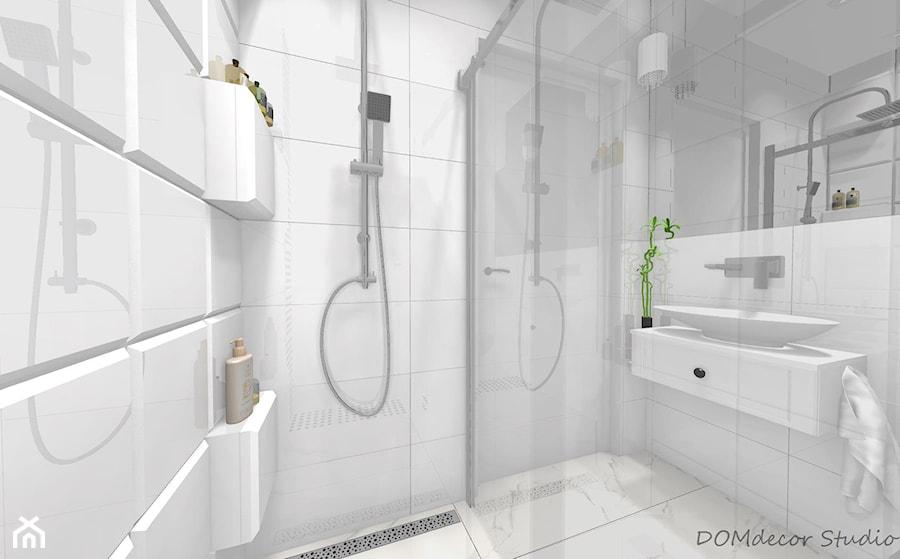 Mala Lazienka Z Prysznicem Mala Biala Lazienka Na Poddaszu W Bloku