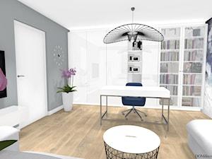 Kobiece biuro - Średnie szare kolorowe biuro domowe w pokoju, styl nowoczesny - zdjęcie od DOMdecor Studio Klaudiusz Klepacki