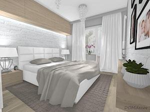 Sypialnia - styl nowoczesny glamour