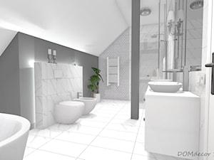 Łazienka  ze skosem w stylu glamour