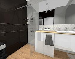 Łazienka - Średnia czarna łazienka w bloku w domu jednorodzinnym bez okna, styl nowoczesny - zdjęcie od DOMdecor Studio Klaudiusz Klepacki