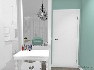Pokój nastolatki - Mały szary niebieski pokój dziecka dla chłopca dla dziewczynki dla ucznia dla malucha dla nastolatka, styl nowoczesny - zdjęcie od DOMdecor Studio Klaudiusz Klepacki