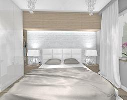 Sypialnia - styl nowoczesny glamour - Mała szara sypialnia małżeńska, styl glamour - zdjęcie od DOMdecor Studio Klaudiusz Klepacki
