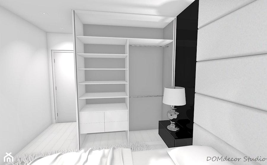 Sypialnia - styl glamour - Średnia szara czarna sypialnia małżeńska, styl glamour - zdjęcie od DOMdecor Studio Klaudiusz Klepacki