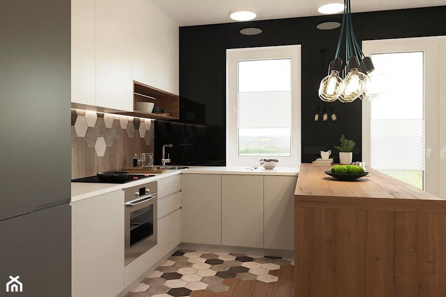 Płytki Heksagonalne Na ścianie I Na Podłodze W Kuchni