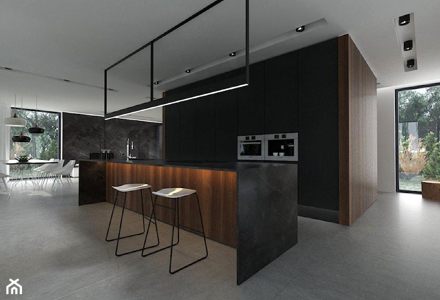 Projekt Salonu Wraz Z Aneksem Kuchennym I Jadalnią średnia Otwarta