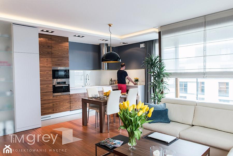 Wilanowski Apartament - Kuchnia, styl nowoczesny - zdjęcie od TiM Grey Projektowanie Wnętrz