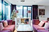 fioletowe sofy