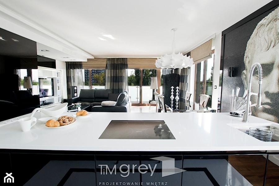 Apartament Glamur  Salon, styl glamour  zdjęcie od TiM Grey Projektowanie W