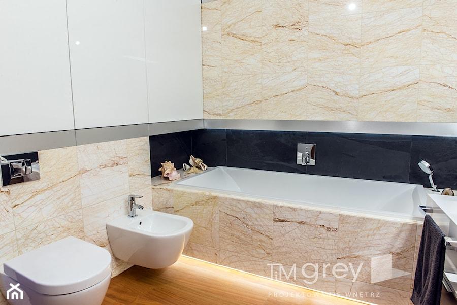 Wilanowski Apartament - Łazienka, styl nowoczesny - zdjęcie od TiM Grey Projektowanie Wnętrz