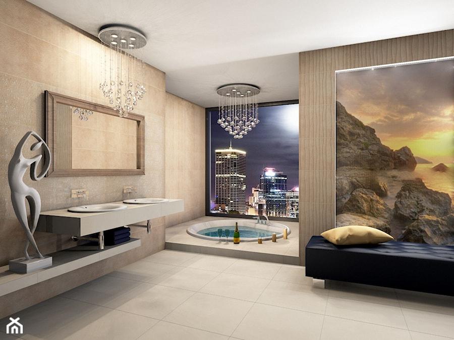 Sonic - Duża łazienka w bloku w domu jednorodzinnym jako salon kąpielowy jako domowe spa z oknem, styl eklektyczny - zdjęcie od BLU Salony Łazienek