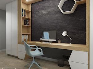 PS | 2 - Mały szary czarny pokój dziecka dla chłopca dla ucznia dla nastolatka, styl nowoczesny - zdjęcie od PS.STUDIO
