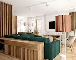 Dom jednorodzinny w Gliwicach - Salon, styl nowoczesny - zdjęcie od KOCHAN wnętrza - Homebook