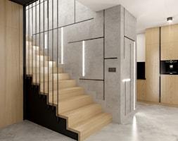 Dom jednorodzinny w Wodzisławiu Śląskim - Schody, styl nowoczesny - zdjęcie od KOCHAN wnętrza - Homebook