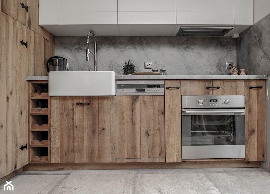 Drewniany Domek Realizacja Mała Otwarta Kuchnia