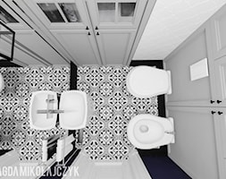 Dom w Koninie - Mała łazienka, styl vintage - zdjęcie od Magda Mikołajczyk PRACOWNIA PROJEKTOWANIA WNĘTRZ