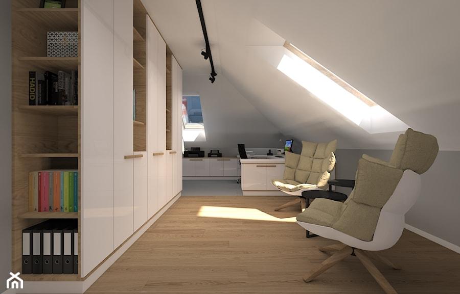 Dom Jednorodzinny 114 Duże Białe Biuro Pracownia Domowe Na