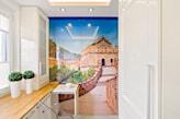 fototapeta mur chiński w kuchni
