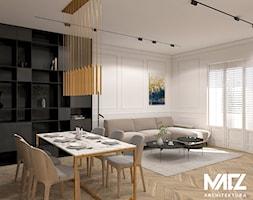 Przestronny salon w kamienicy - zdjęcie od MACZ Architektura - Homebook